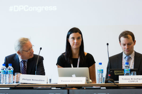 From left to right: Philippe Renaudière, Data Protection Officer, European Commission, Yvonne Cunnane, Head of Data Protection, Facebook, and Tobias Brautigam, Senior Legal Counsel, Microsoft Corporation
