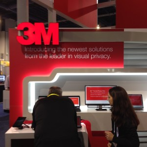 3M featured privacy prominently in its booth messaging at CES.