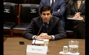 ITIF Vice President Daniel Castro testifying to a House subcommittee on Tuesday.
