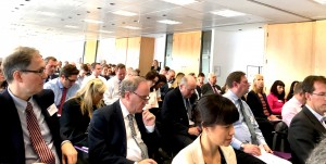 A full house was eager to hear from UK Commissioner Christopher Graham at Dentons in London.